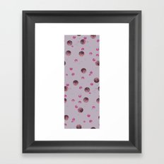 big bubbles - purples Framed Art Print