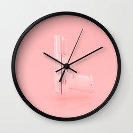 Pink Gun Wall Clock