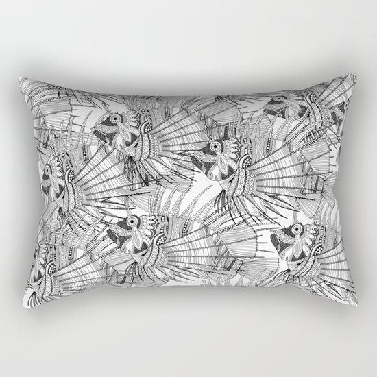 fish mirage black white Rectangular Pillow