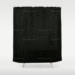 the fuck is going on here Shower Curtain