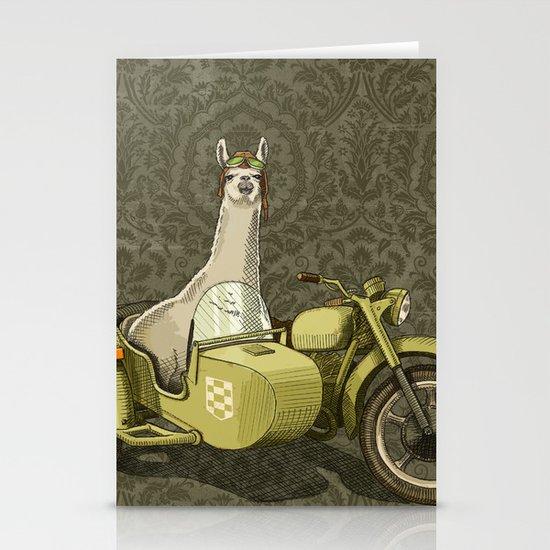 Sidecar Llama Stationery Cards