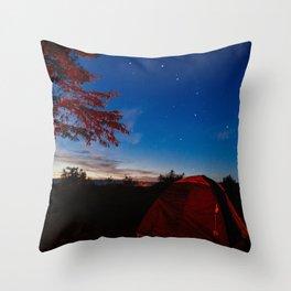 Roadtrip Camping Throw Pillow