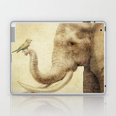 A New Friend (sepia drawing) Laptop & iPad Skin