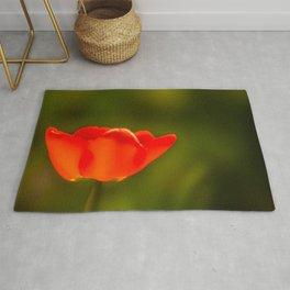 La tulipe orange Rug