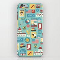 parks and recreation iPhone & iPod Skins featuring Parks and Recreation by Kitkat Lastimosa