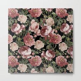 Vintage & Shabby Chic - Lush Victorian Roses Metal Print