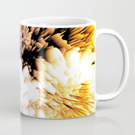 Mums abstract with shades of purple and gold Coffee Mug