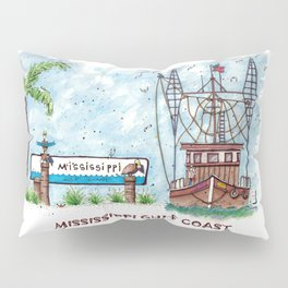 Mississippi Gulf Coast Pillow Sham