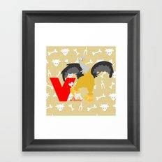 V for vulture Framed Art Print