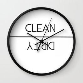 Clean vs Dirty Wall Clock