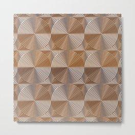Shiny golden embossed metal pattern Metal Print