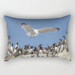 Seagull hovering over birds Rectangular Pillow