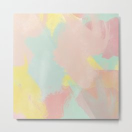 Abstract Pastel Acrylic Metal Print