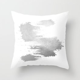 Simply Silver #7 Throw Pillow