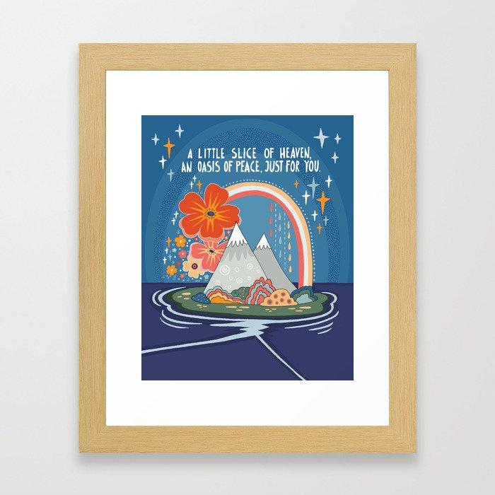 A little slice of heaven Framed Art Print