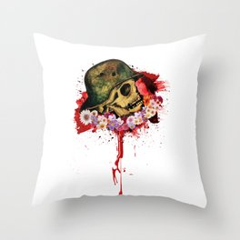 Fossils of war Throw Pillow