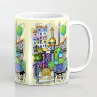 vienna Mugs featuring Vienna  by Aleksandra Jevtovic