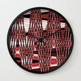Beaded past-time -red Wall Clock