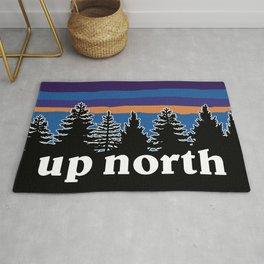 up north, blue & purple Rug
