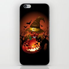 Skull Witch Creepy Halloween iPhone & iPod Skin