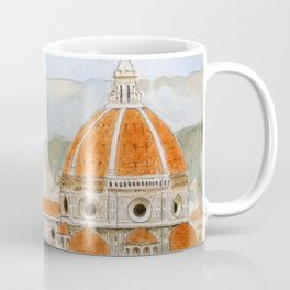 Italy Florence Cathedral Duomo watercolor painting Coffee Mug