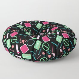 Contraception Pattern (Black) Floor Pillow