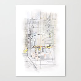 The reflection of a big city Canvas Print