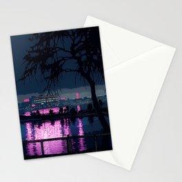 Japanese Nightscape 'Shinobazu Pond at Night' by Hasui Kawase Stationery Cards