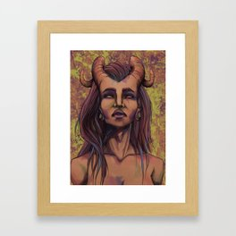 On the skin Framed Art Print