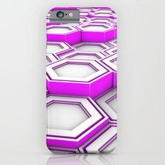 Honeycomb pattern of glowing hexagons Slim Case iPhone 6s