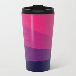 Stripe VII Ultraviolet Metal Travel Mug
