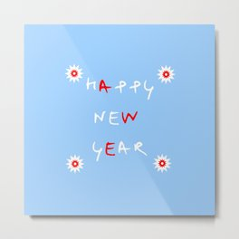 happy new year 14 Metal Print