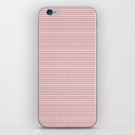 Decorative Pink White Fine Lines Design iPhone Skin