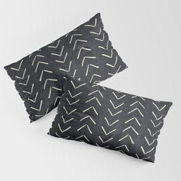 Mudcloth Big Arrows in Black and White Pillow Sham