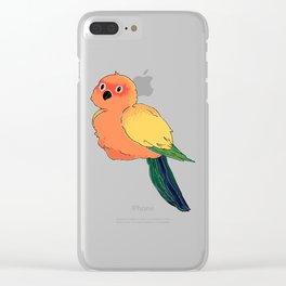 Fluffy Sun Conure Ball Clear iPhone Case