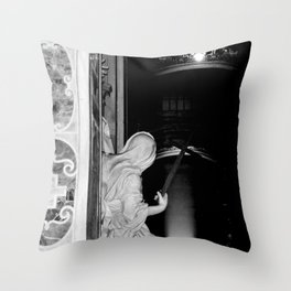 Virgin Mary with cross in St Peters Photograph by Larry Simpson Throw Pillow