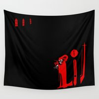 jojo Wall Tapestries featuring The Masque of the Red Death by JoJo Seames