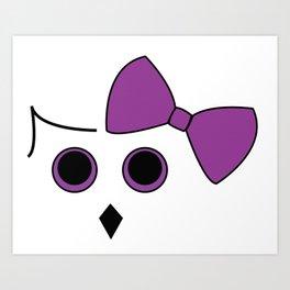 Owls and Bow No.3 Art Print