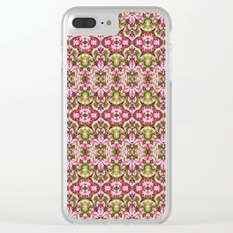 Delicate Floral Stripes Clear iPhone Case