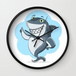 Smiling Shark Gives a Thumbs Up Wall Clock