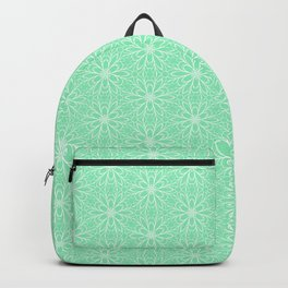 Mint Daisy Graphic  Design Pattern Backpack