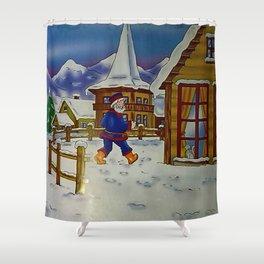 Une journée d'hiver en montagne.... Shower Curtain