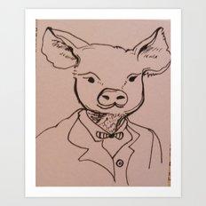 Sir Hog Art Print