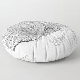 Toronto Map White Floor Pillow