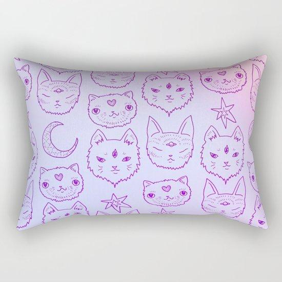 Kitty Mystics in Pink Rectangular Pillow