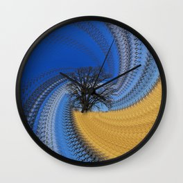 Prairie oak swirl Wall Clock