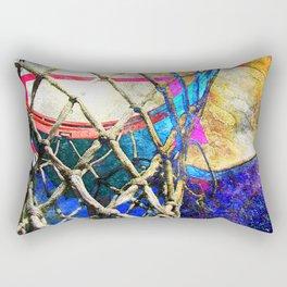 Colorful Basketball Art Rectangular Pillow