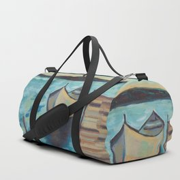 Boat to the Pier Duffle Bag