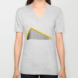 Minimal geometric yellow black modern Unisex V-Neck