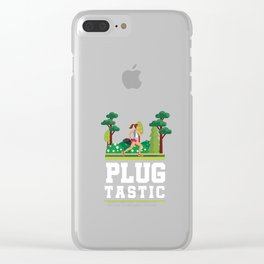 Cardio Jogging Plogging Ploggers Plog Tastic Runners Nature Recycle Clear iPhone Case